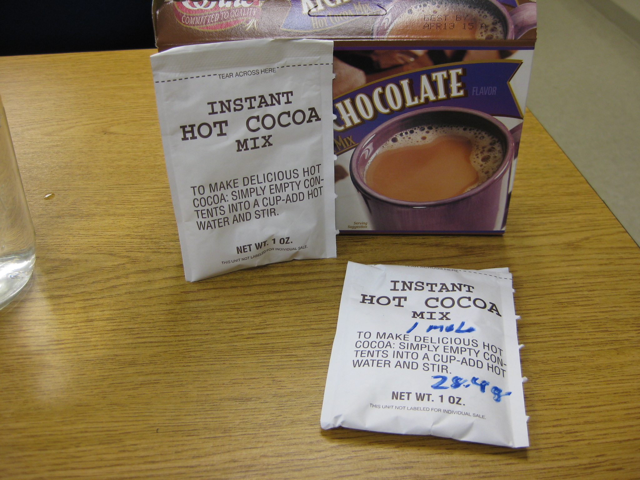 Molarity And Hot Chocolate